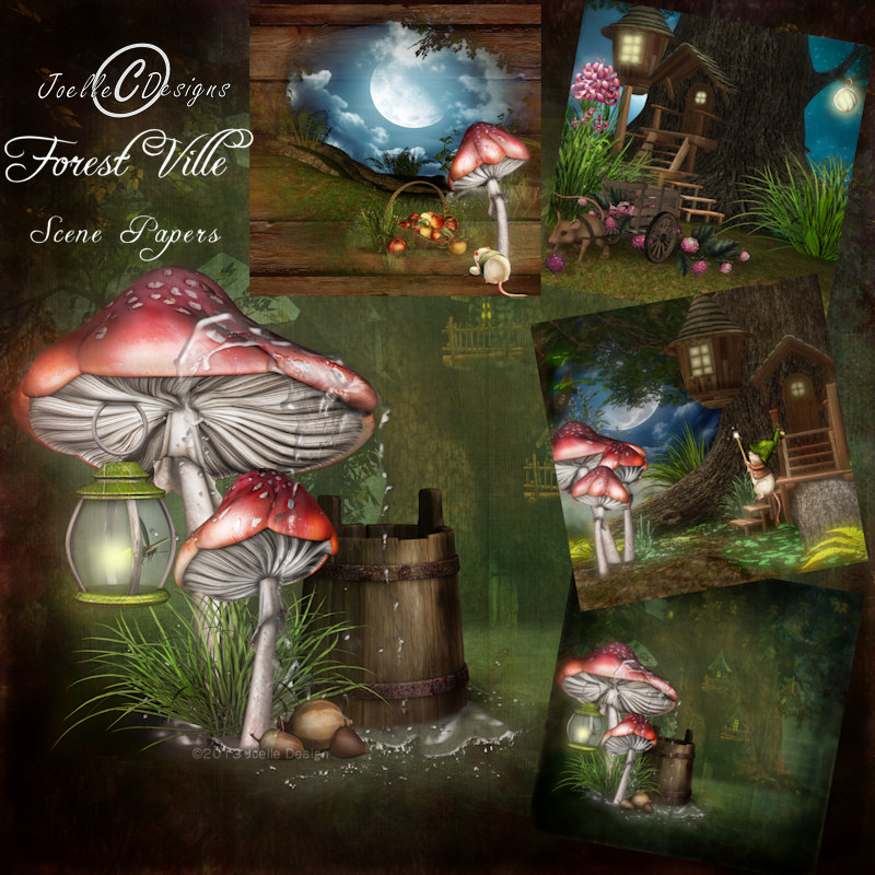 Forest Ville Scene Pages